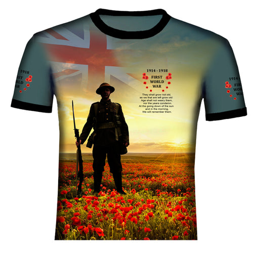 Poppy The Somme  WW1 T .Shirt