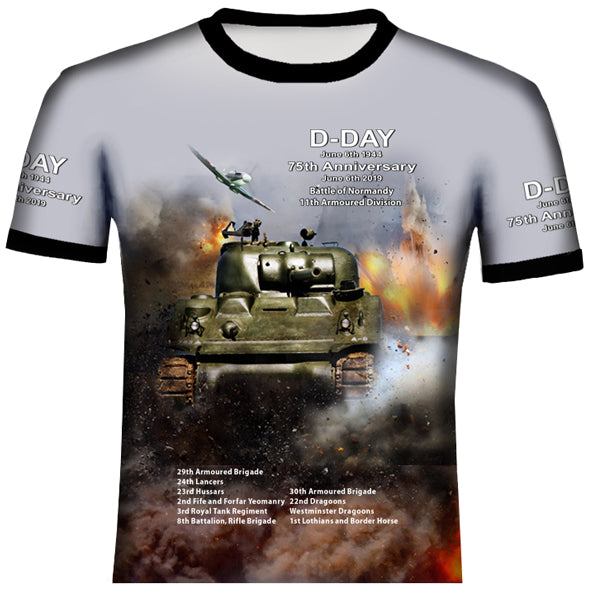 D- Day 75th Anniversary 11th Armoured Division  T Shirt