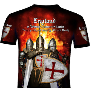 English  Knight  T .Shirt 0B17