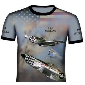 North American P-51 Mustang  T Shirt 0A9