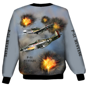 North American P-51 Mustang Sweat Shirt 0A9