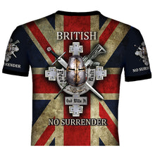 British No Surrender T .Shirt 0B24