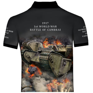 WW1 Tank Battle of Cambrai Polo Shirt 0T1