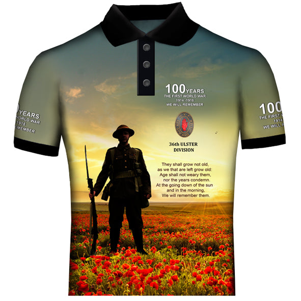 100 YEARS 36th DIVISION POLO SHIRT