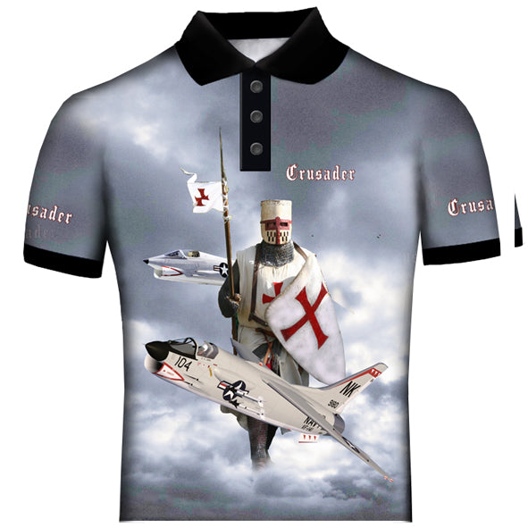 Vought F-8 Crusader Polo Shirt