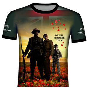 Poppy We Shall Not Forget  T .Shirt