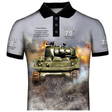 D-Day 75th Anniversary 27th Armored Brigade Polo Shirt