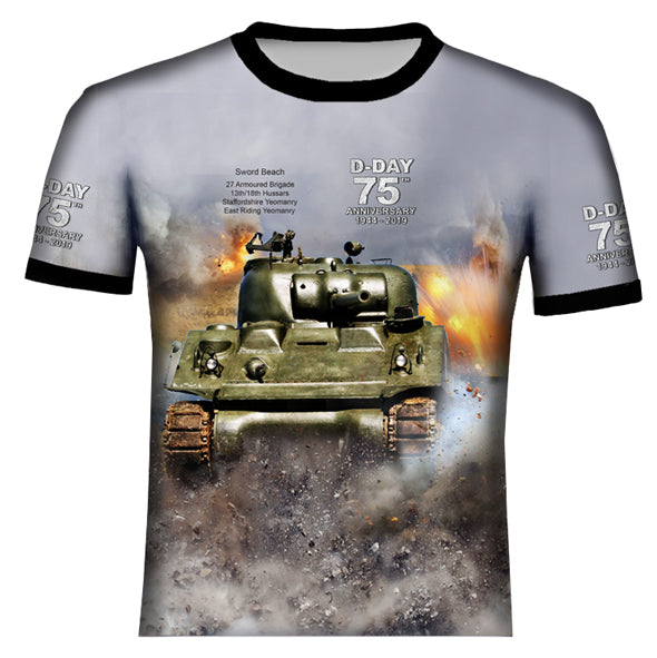 D-DAY 75th ANNIVERSARY 27TH ARMORED BRIGADE T .Shirt