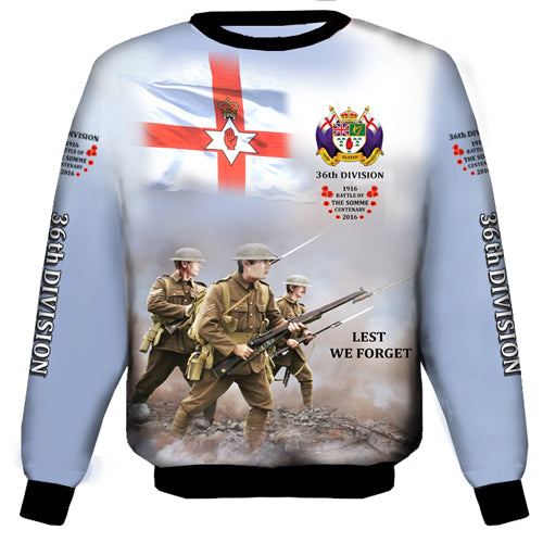 The Somme 36TH Divison  Sweat Shirt