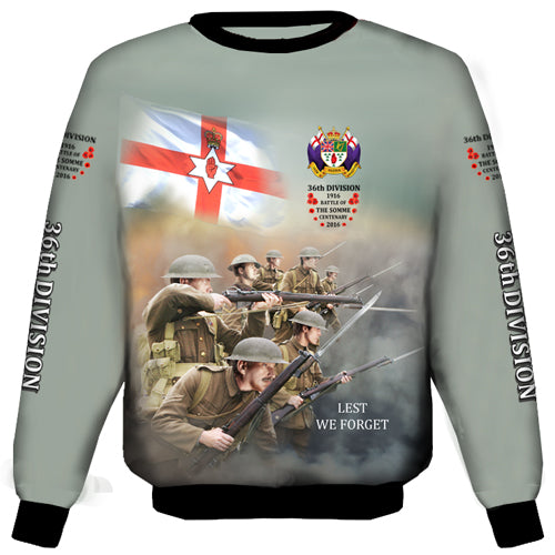 Somme 2 36th  Ulster Division Sweat Shirt
