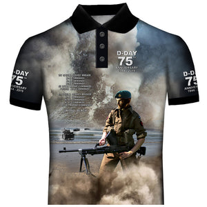 D-Day 75th Anniversary Commandos Sword Beach Polo Shirt