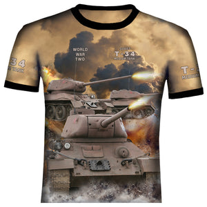 T-34  Soviet Medium Tank  WW2 T Shirt