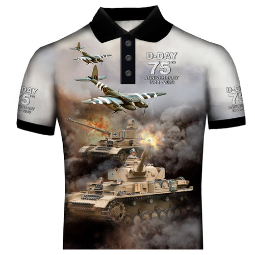 D-Day 75th Anniversary Mosquito Spitfire   Polo Shirt