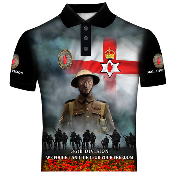 100 YEARS 36th DIVISION POLO SHIRT 0U9