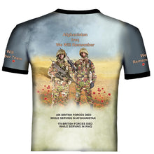 Poppy  Afghanistan Iraq Remembrance day T .Shirt
