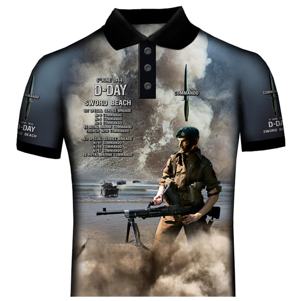 Commandos Sword Beach Polo Shirt OB13