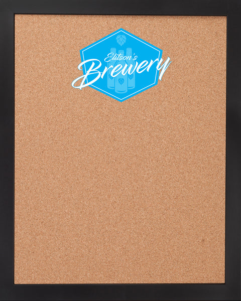 CORK BOARD 18 x 22: BREWERY BAR LOGO (ADD YOUR NAME!)