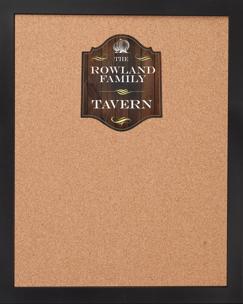 CORK BOARD 18 x 22: OLD TAVERN BAR LOGO (ADD YOUR NAME!)