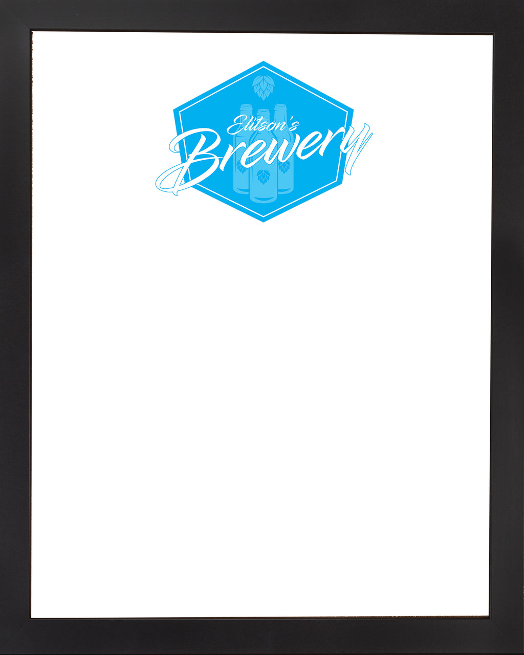 DRY ERASE BOARD 18 X 22: BREWERY BAR LOGO (ADD YOUR NAME!)