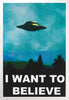 FRAMED ART: I WANT TO BELIEVE