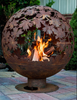 FIRE PIT: SPHERE WITH LEAVES XL