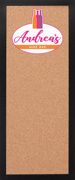 CORK BOARD 14 x 34: WINE BAR LOGO (ADD YOUR NAME!)