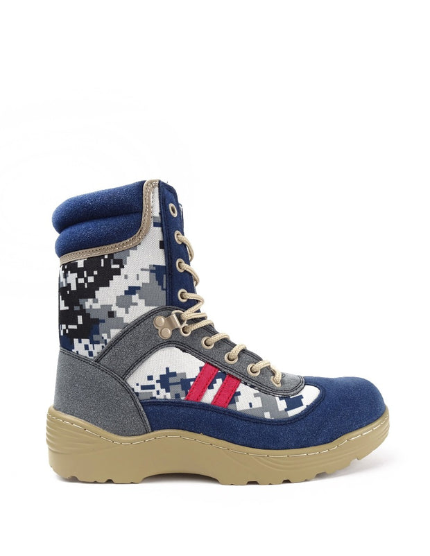 Boots Crazy Army Color Red Desert Digital Blue