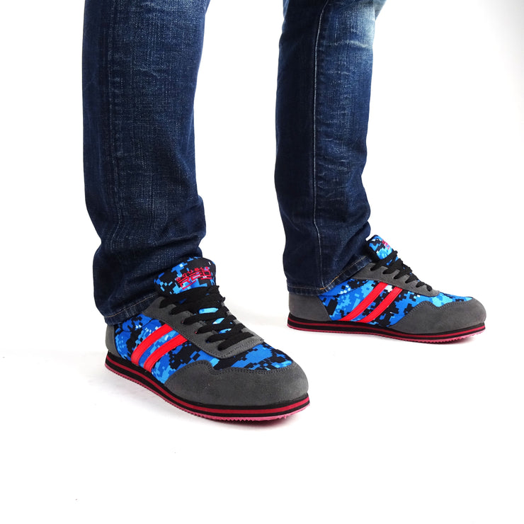 DOUBLE RED Camo Blue Digi Sneakers II