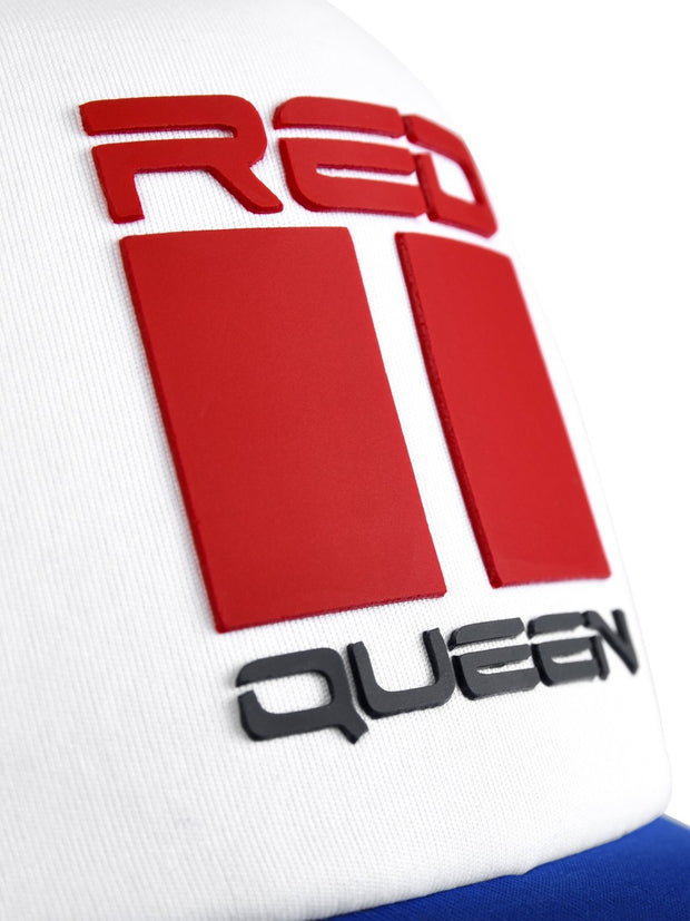 DOUBLE RED QUEEN Trucker Cap Blue/White