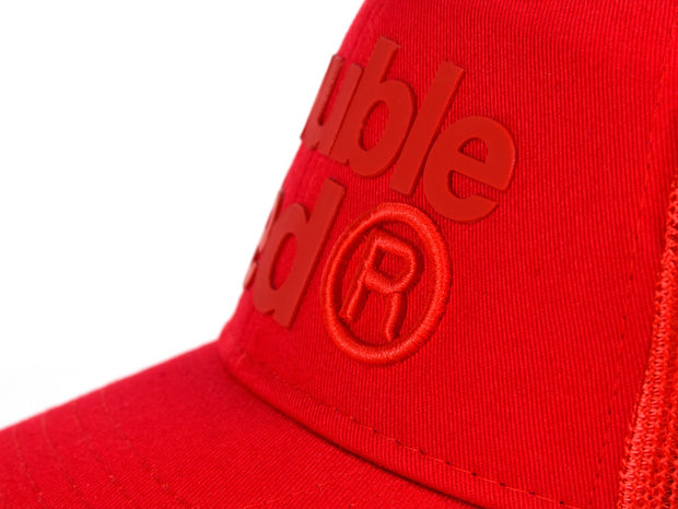 DOUBLE RED Trademark Trucker Cap ALLRED