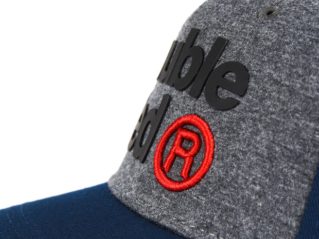 DOUBLE RED Trademark Trucker Cap Blue/Grey