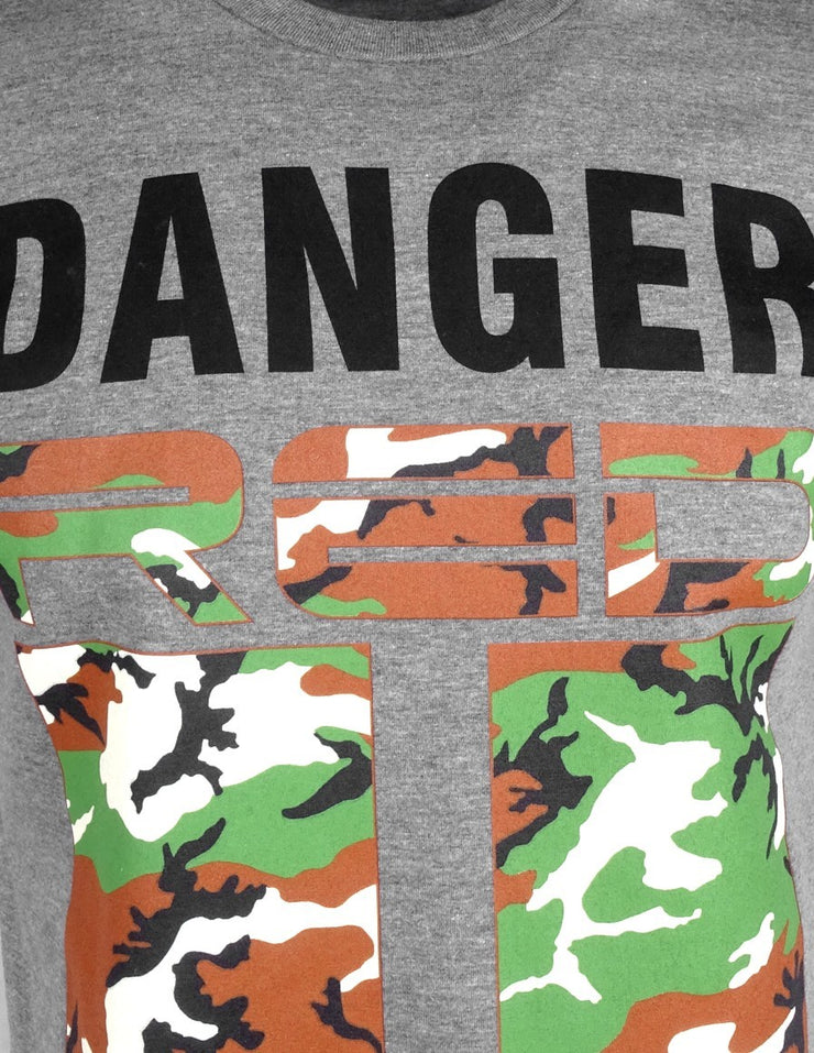 DR M T-Shirt Danger Red Area Grey
