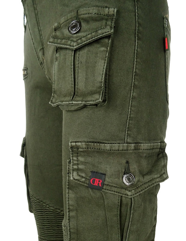DR W Limited Cargo Jeans Army Green