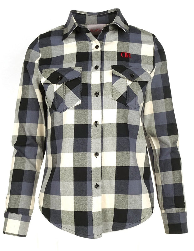 DR W Limited Check Shirt Black&White