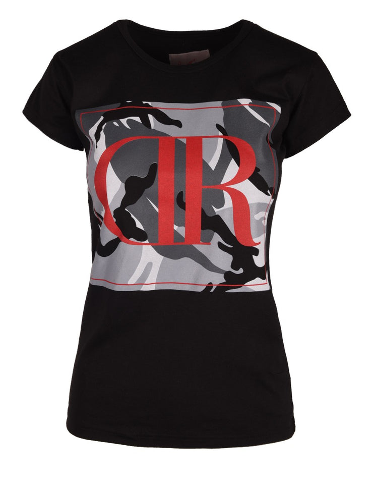 DR W T-Shirt Camodresscode Black Red Logo