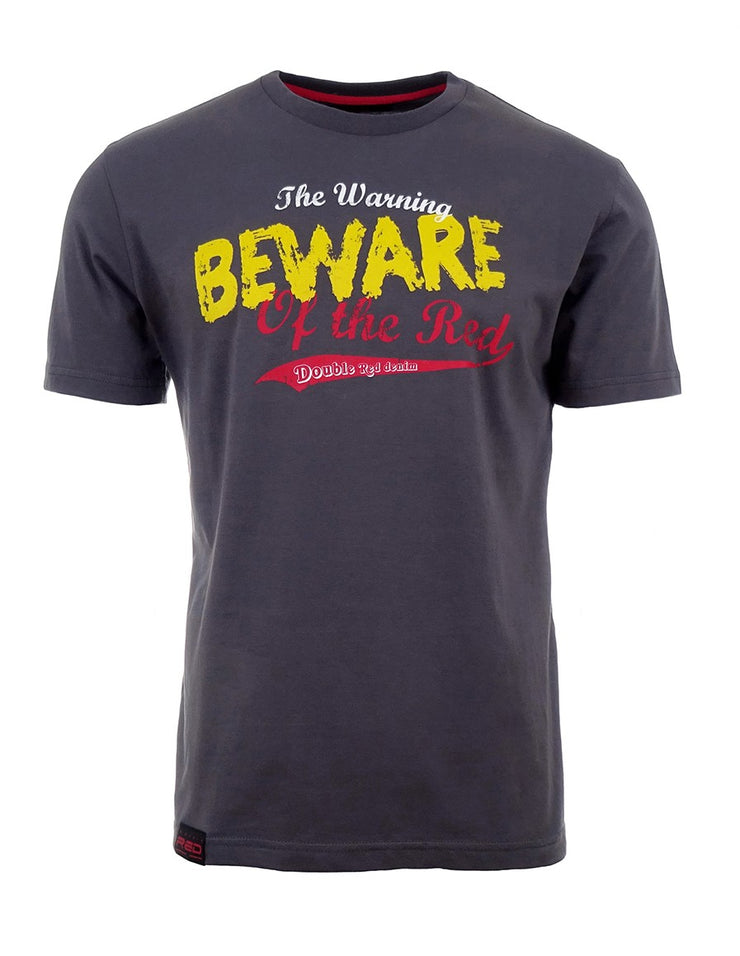 Grey T-Shirt Beware Of The Red
