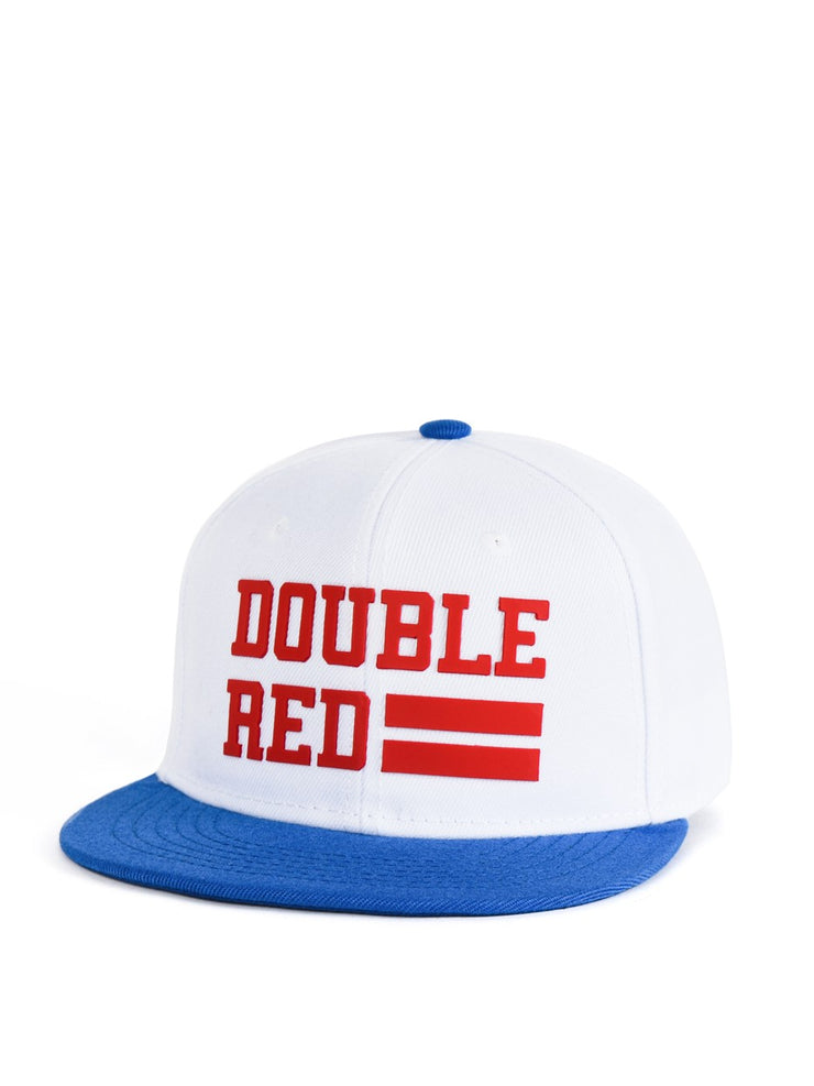 221d9b31bcf428 Snapback Cap UNIVERSITY OF RED White/Blue – DOUBLE RED USA