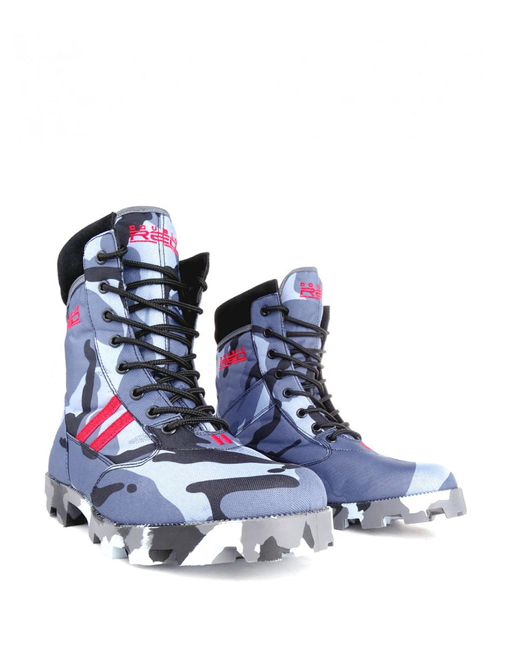 Boots Red Jungle Black/Blue Camo