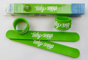 Tidy Snap kids clothes bands green