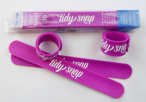 Tidy Snap kids clothes bands purple