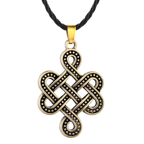 Image of Celtic Eternity Knot Necklace Bronze