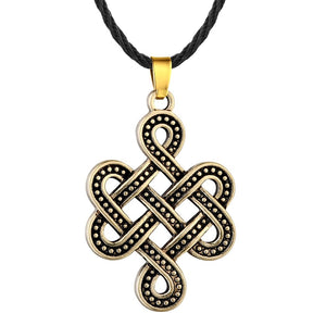 Celtic Eternity Knot Necklace Bronze