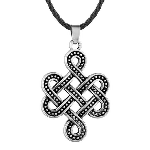 Image of Celtic Eternity Knot Necklace Silver