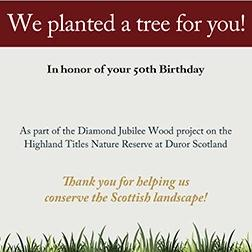 Plant a tree in the Scottish Highlands