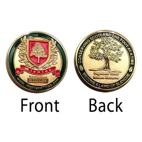 Geocaching Trackable Coin Highland Title