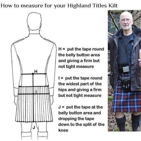 Image of Highland Titles Tartan Kilt
