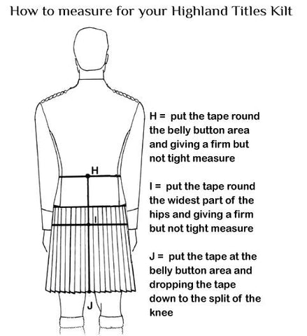Measurements Kilt