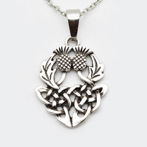 Image of Celtics Knot Thistle Pendant
