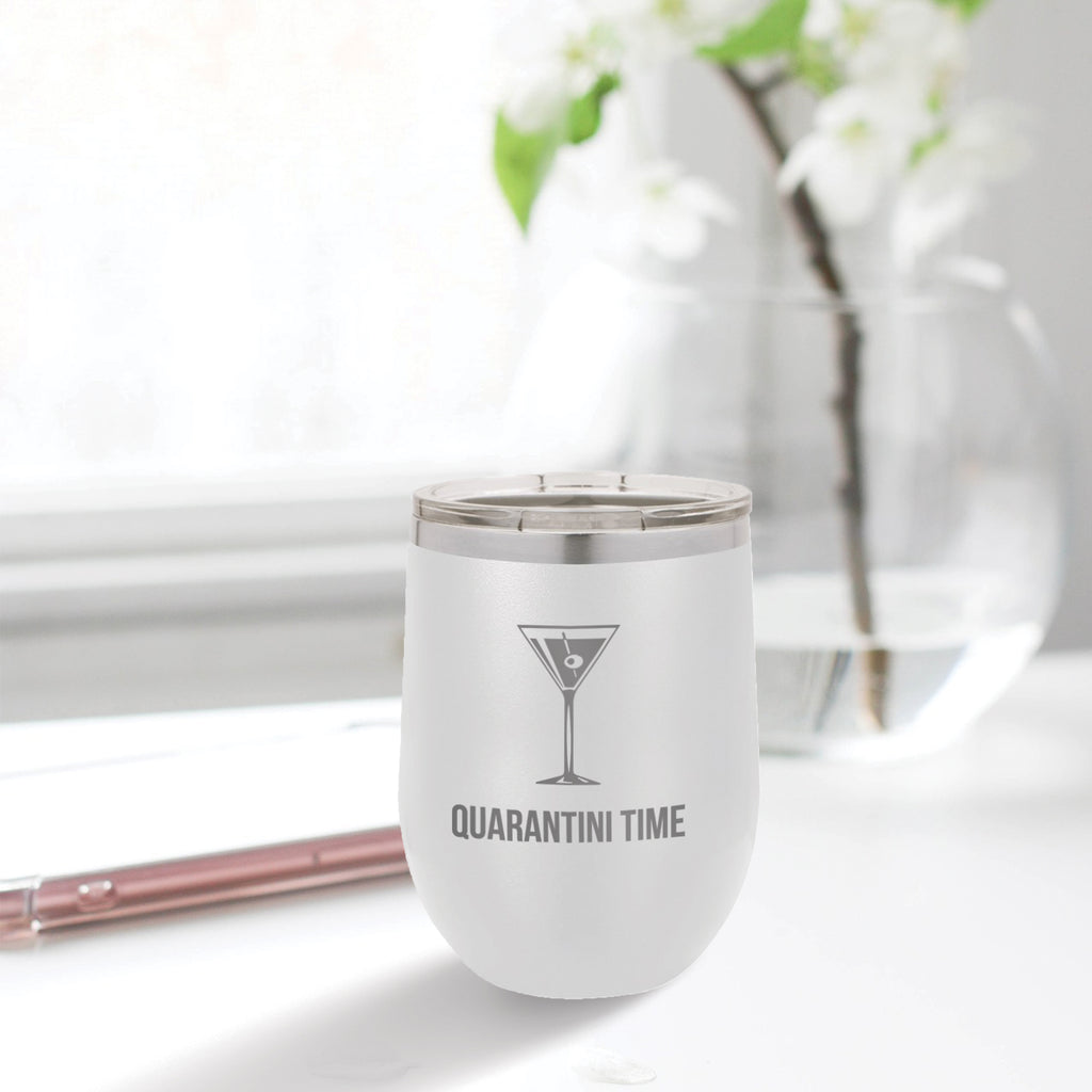 Custom Quarantini Engraved 12 oz Tumbler