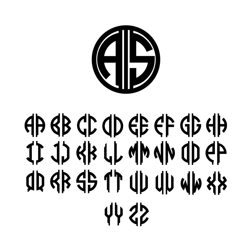 two and three letter monogram acrylic stir sticks set of 4 Gatsby Collection design alphabet